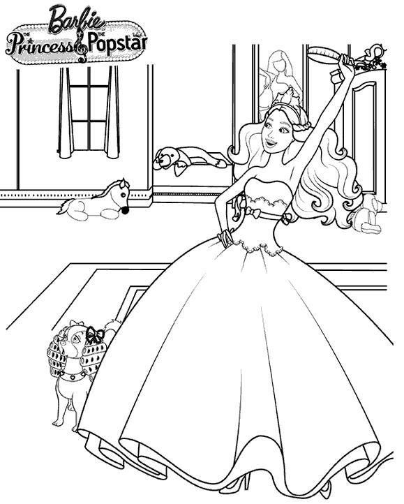 Барби раскраска принцесса играть