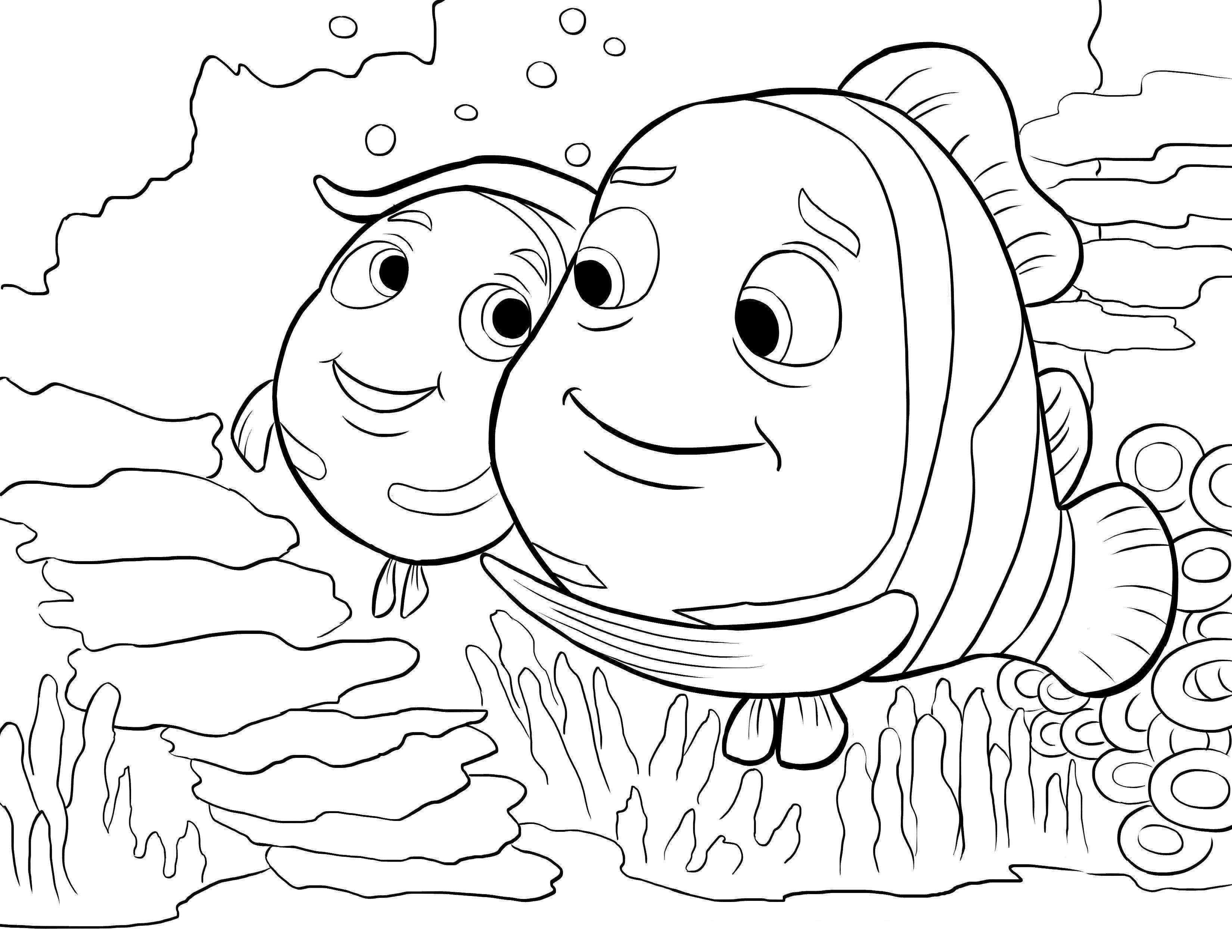 Рыбки Раскраски для девочек скачать