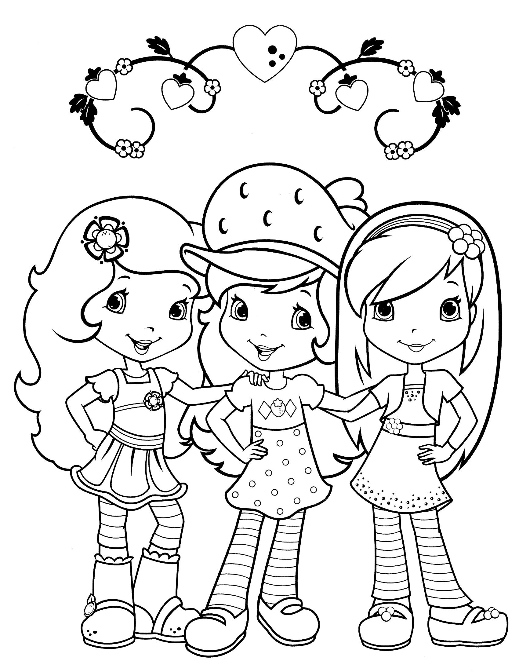 Шарлотта земляничка Раскраски для девочек бесплатно