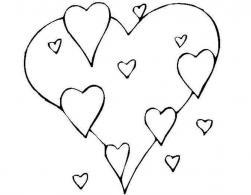 Сердечки Раскраски для девочек распечатать