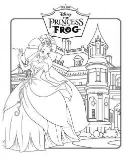 Царевна лягушка Раскраски для девочек бесплатно