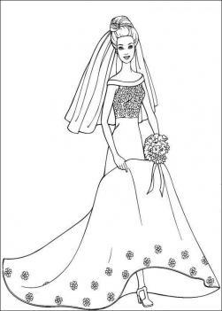 Барби принцесса Раскраски цветочки  для девочек