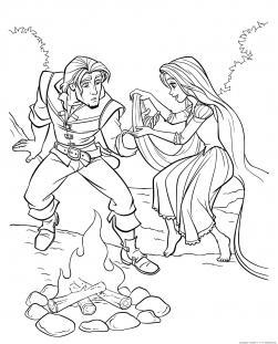 Рапунцель запутанная история Раскраски для девочек бесплатно