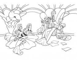 Барби приключения русалочки Раскраски для девочек онлайн