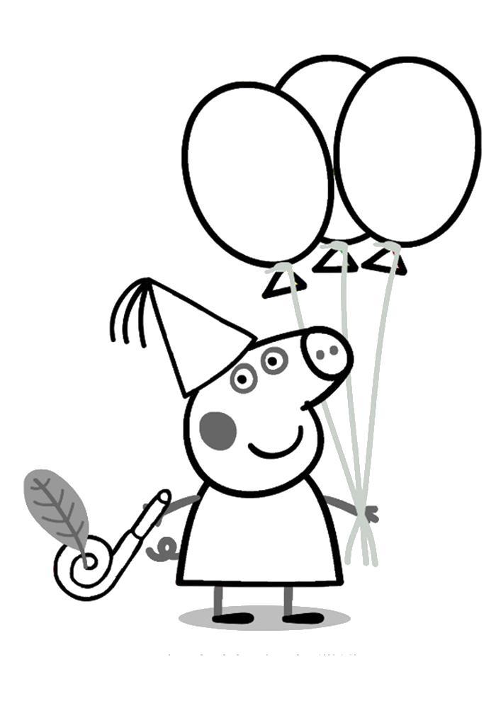 Раскраски девочке на день рождения