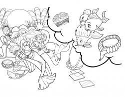 Барби приключения русалочки Раскраски с цветами распечатать бесплатно