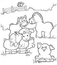 Домашние животные Раскраски для девочек бесплатно