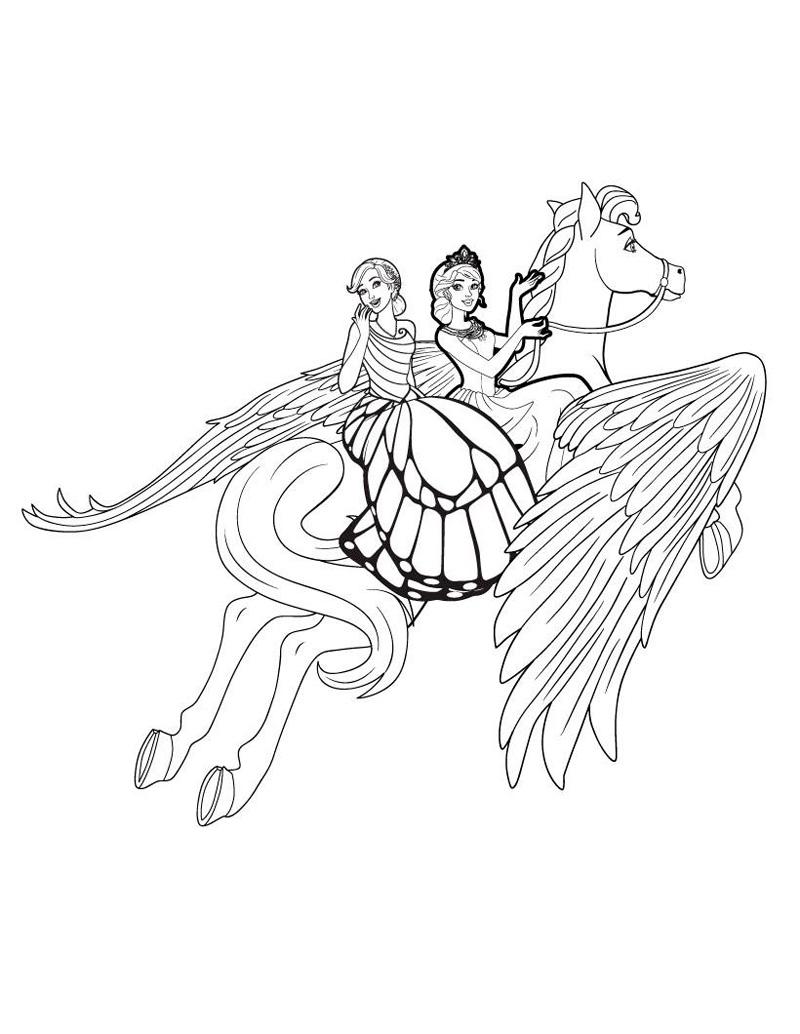 барби принцесса барби принцесса лошадка грива поводья крылья