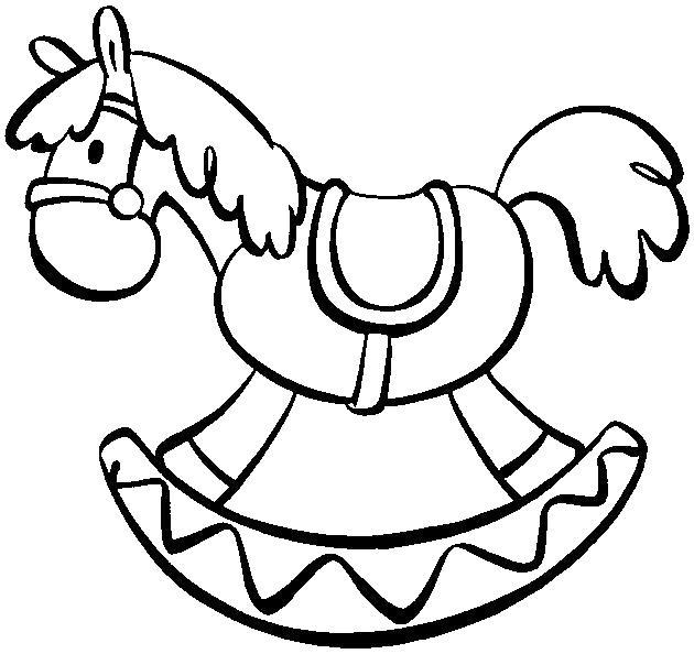 Игрушка лошадка Раскраски для девочек бесплатно