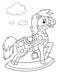 Лошадка игрушка Раскраски для девочек бесплатно
