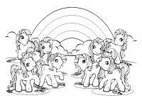 Лошадки Раскраски для девочек бесплатно