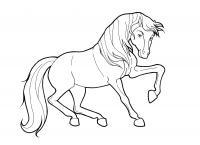 Лошадка прыгает Раскраски для девочек бесплатно