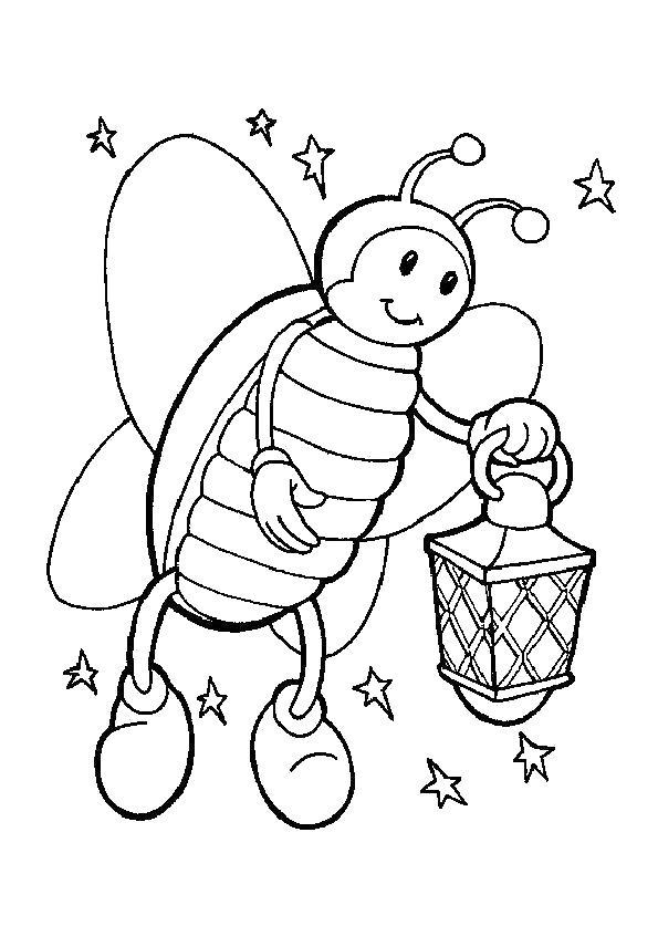 пчелка майя с фонариком на звездном небе скачать и