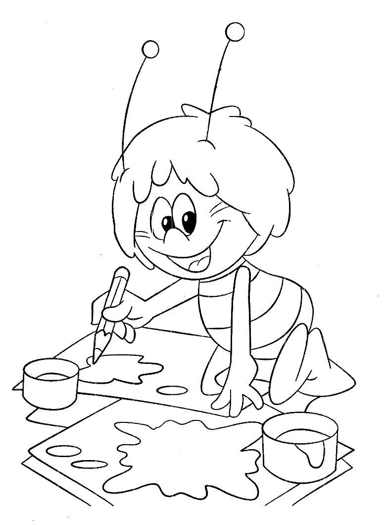 Раскраска ежик с яблоками