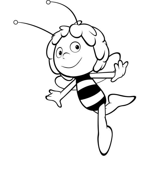 Пчелка майя танцует в воздухе Раскраски для девочек онлайн