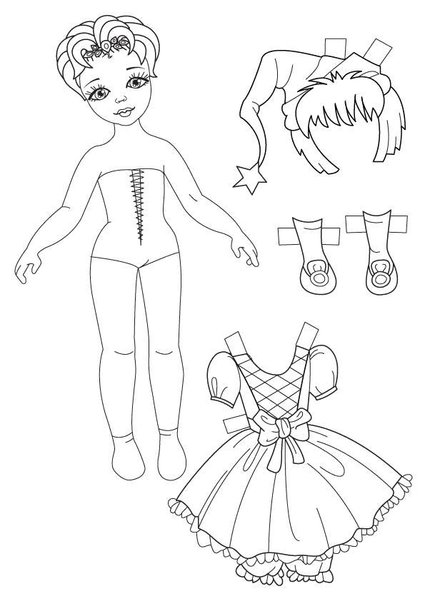 Раскраска одеть куклу 187