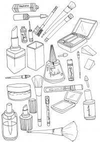 Косметика для макияжа Раскраски для девочек онлайн