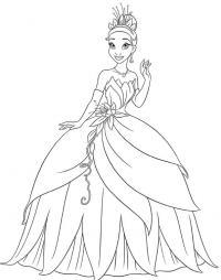 Принцесса в цветочной короне Раскраски с цветами распечатать бесплатно