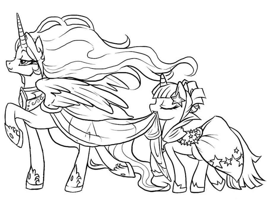 Раскраски для девочек распечатать пони - 3