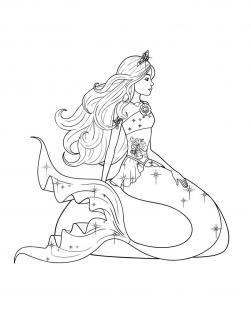 Приключения русалочки Раскраски для девочек онлайн