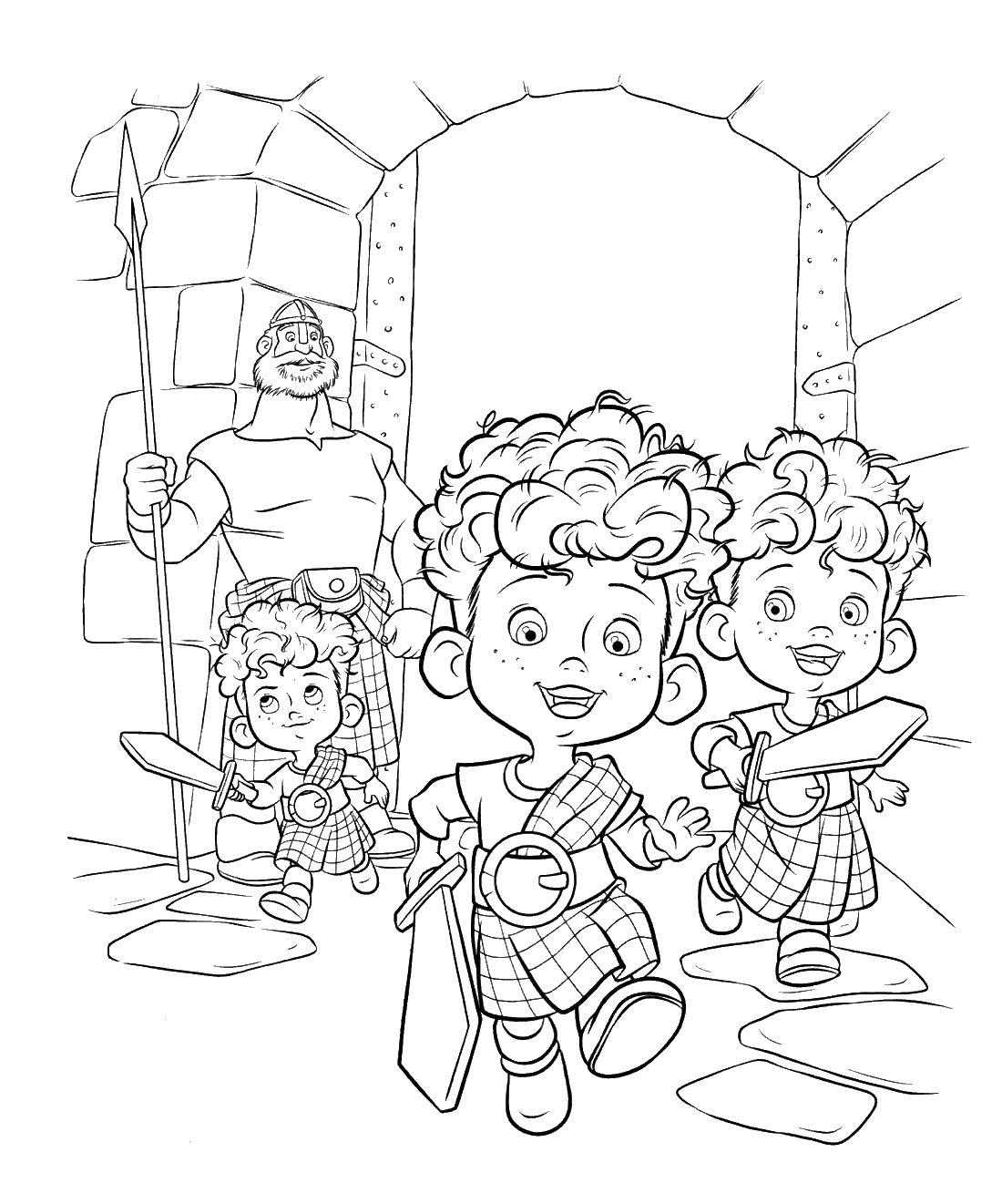 Маленькие принцы Раскраски для девочек скачать