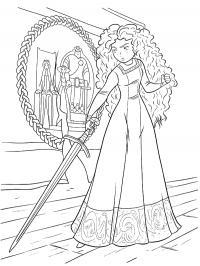Мерида храбрая сердцем Раскраски для девочек скачать