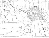 Мерида стреляет с лука Раскраски для девочек скачать