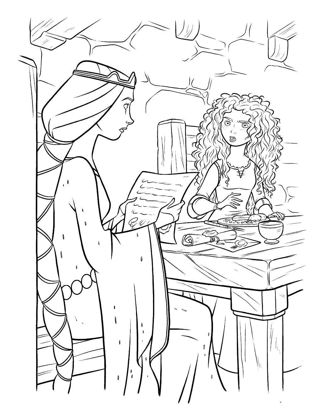 Королева читает письмо Раскраски для девочек скачать