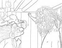 Ведьма и принцесса Раскраски для девочек скачать