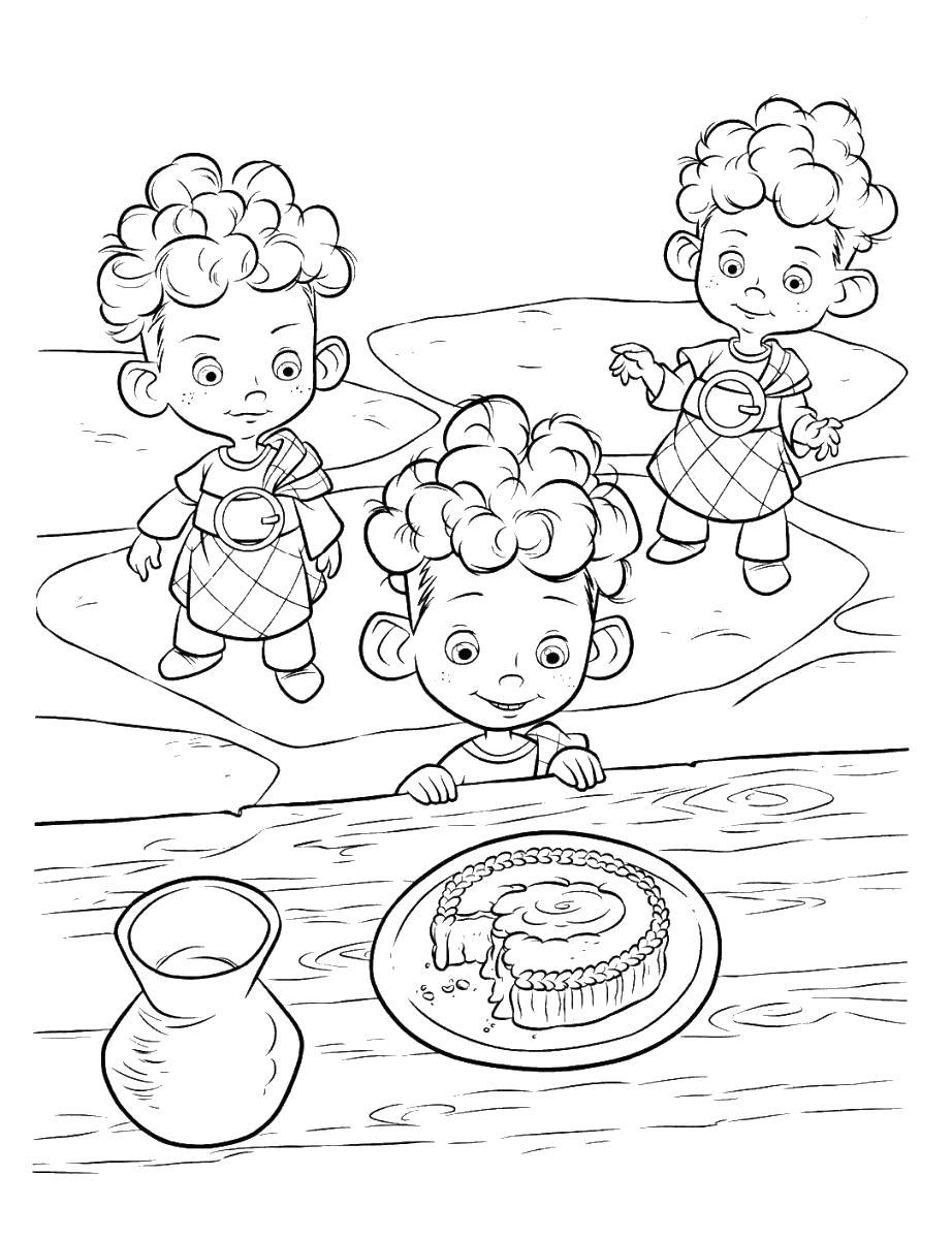 Дети хотят торт Раскраски для девочек скачать