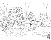 Русалки Раскраски для девочек онлайн