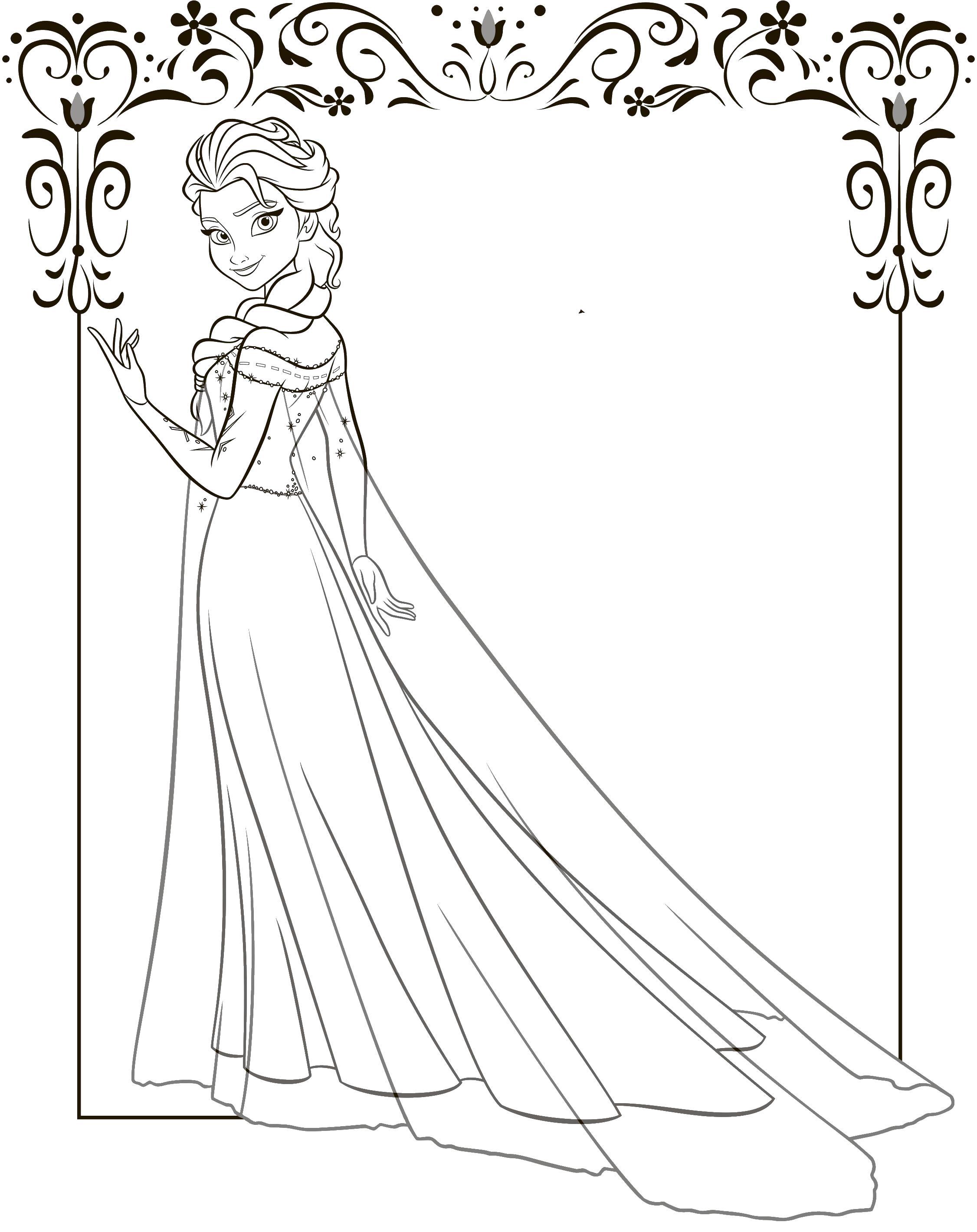 Принцесса с холодным сердцем Раскраски для девочек бесплатно