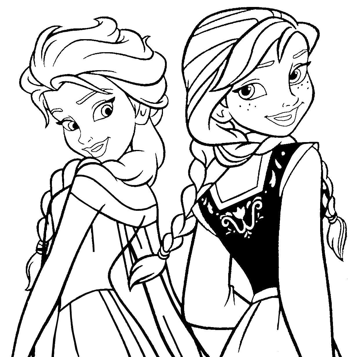 Сестры принцессы Раскраски для девочек бесплатно
