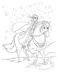 Анна в снегу Раскраски для девочек бесплатно