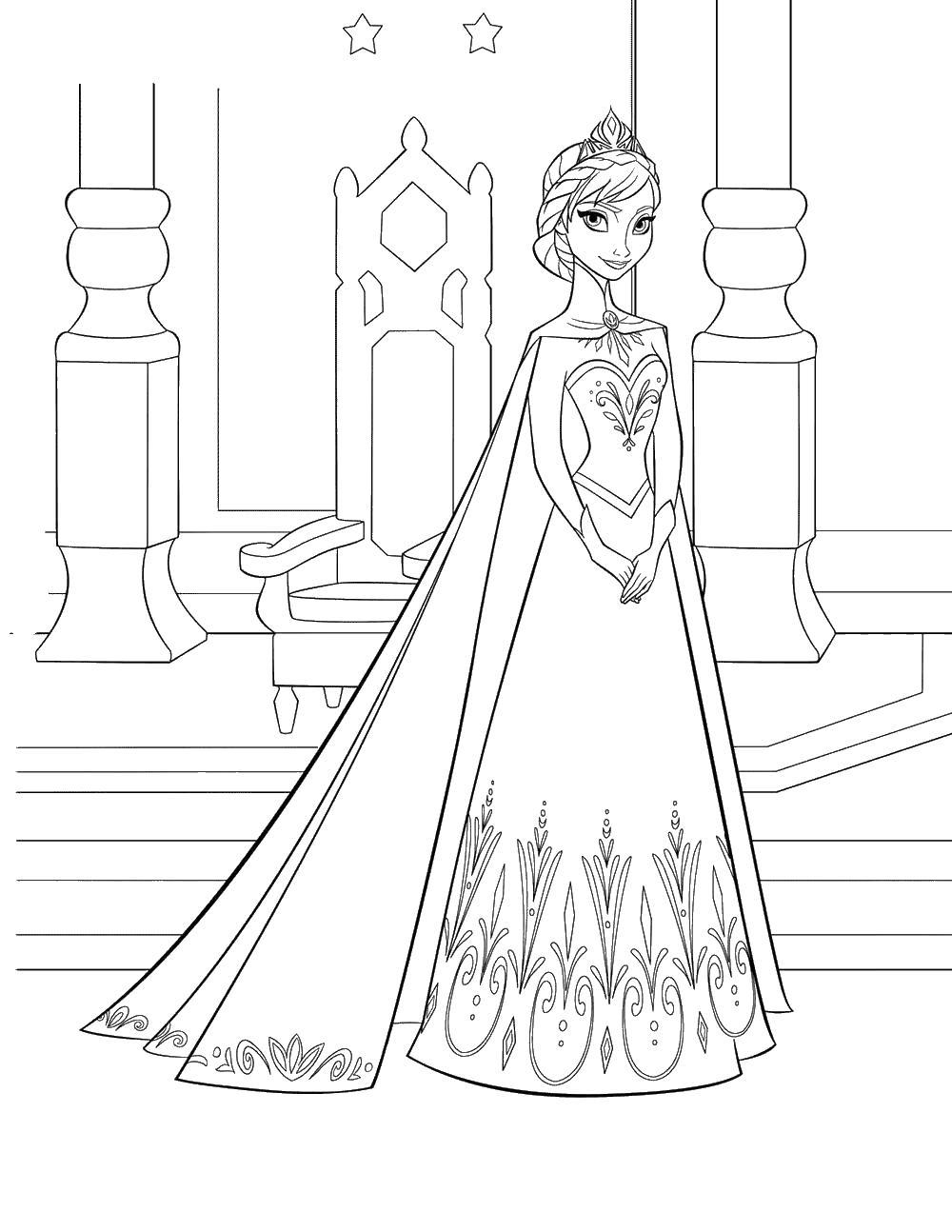 Ельза в царстве Раскраски для девочек бесплатно