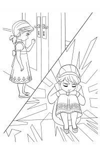 Ельза закрылась в комнате Раскраски для девочек бесплатно
