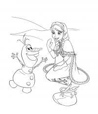 Олиф друг принцесс Раскраски для девочек бесплатно