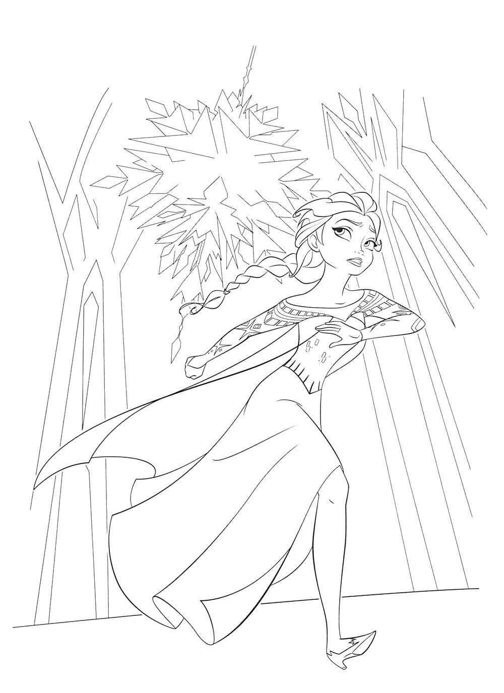 Ельза бежит воинов Раскраски для девочек бесплатно