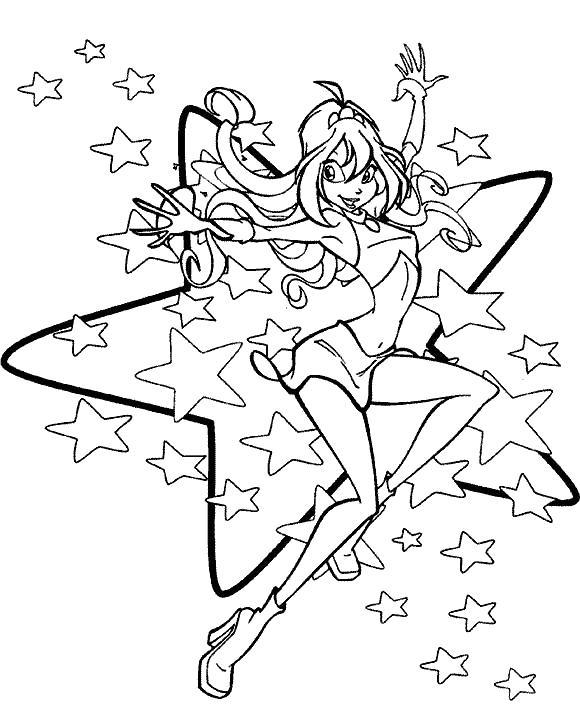Супер винкс Раскраски для девочек онлайн