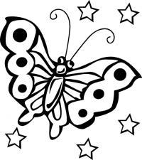 Бабочка Раскраски для девочек скачать