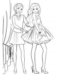 Девушки Раскраски с цветами распечатать бесплатно
