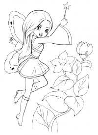 Волшебная палочка Раскраски для девочек скачать