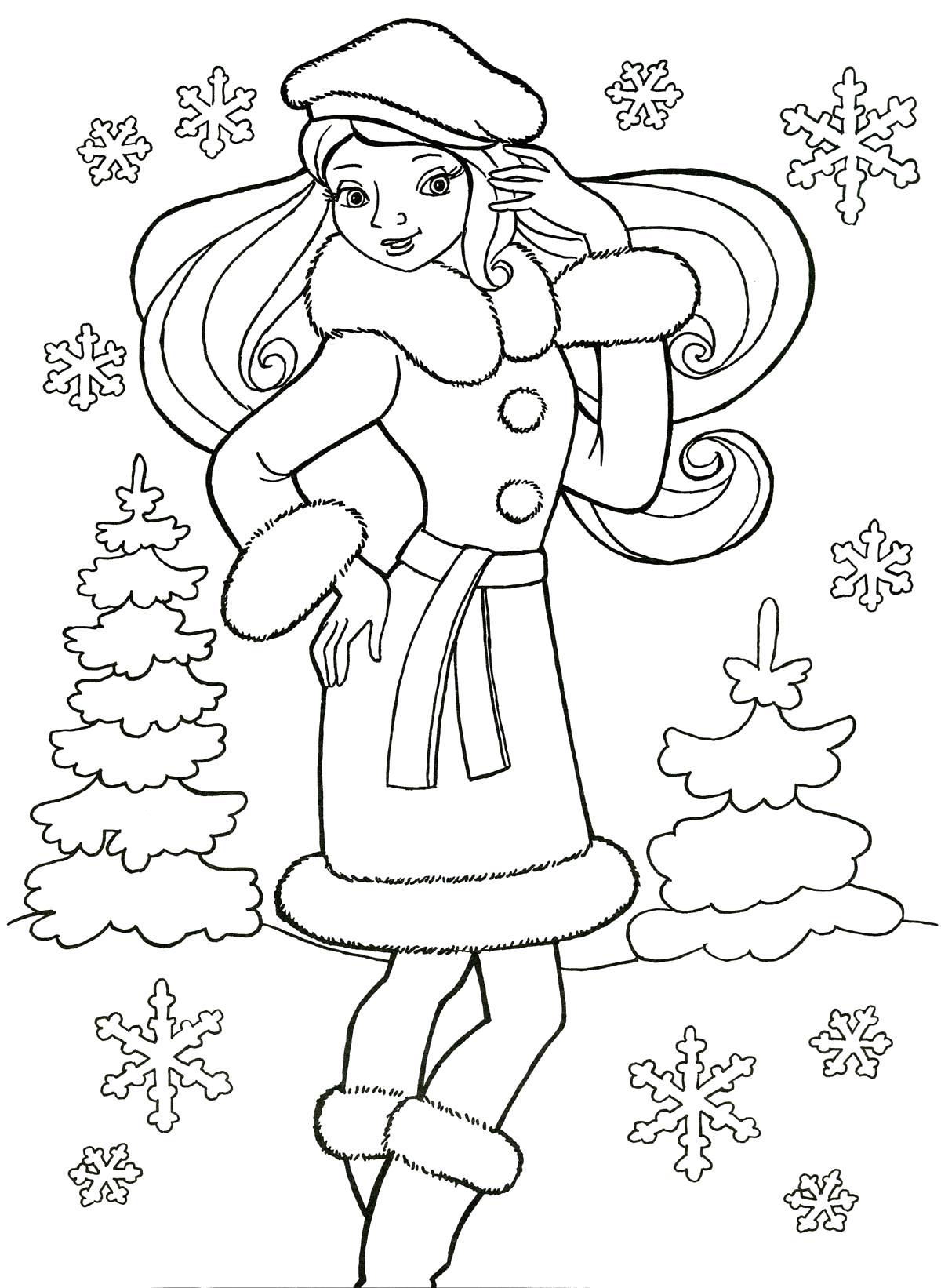 Зима Нравится зима Раскраски цветы хорошего качестваРаскраски для девочек