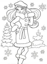 Нравится зима Раскраски с цветами распечатать бесплатно