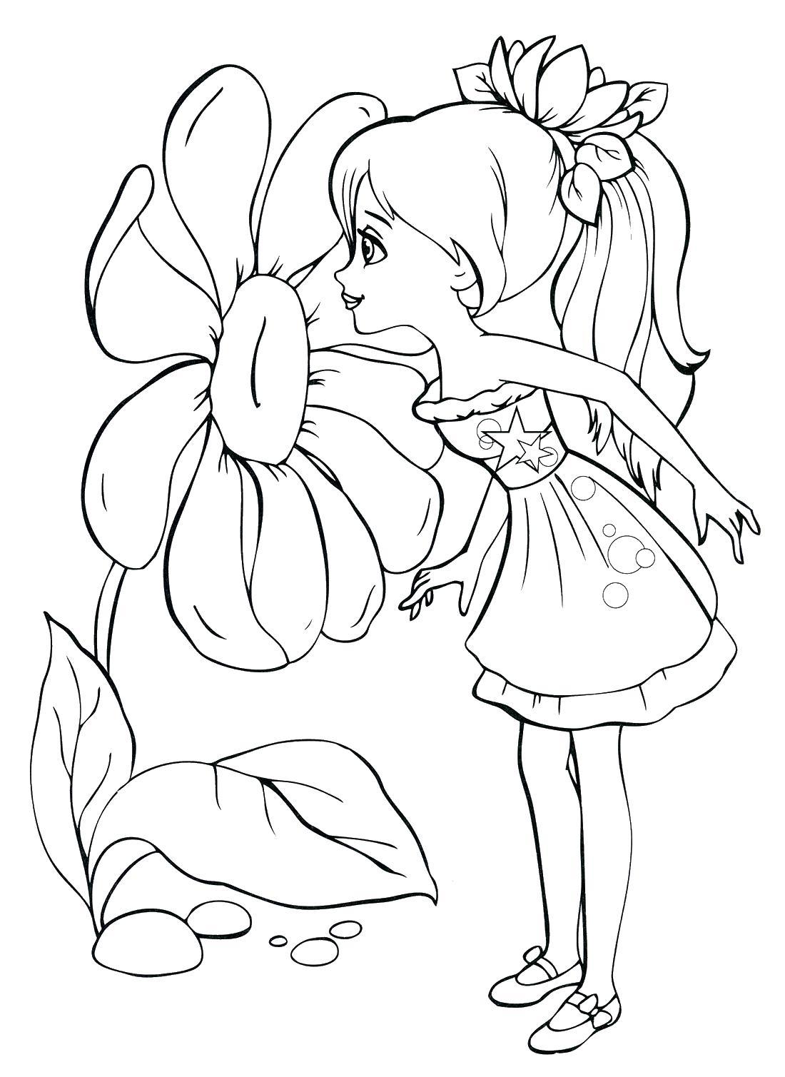 Принцесса в платье раскраска