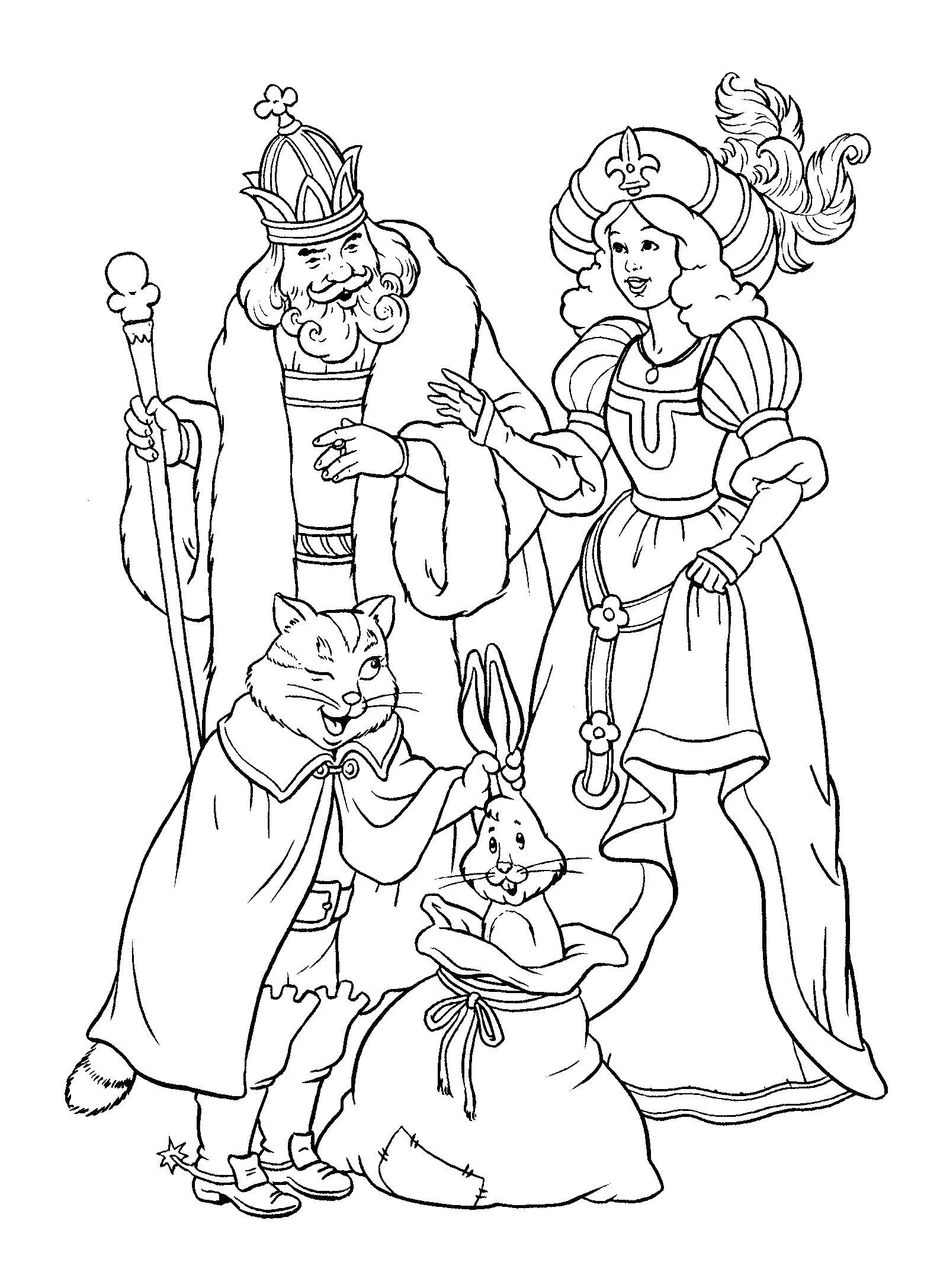 Королева и кароль Раскраски для девочек онлайн