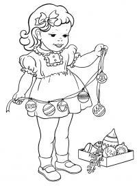 Шарики елки Раскраски для девочек бесплатно