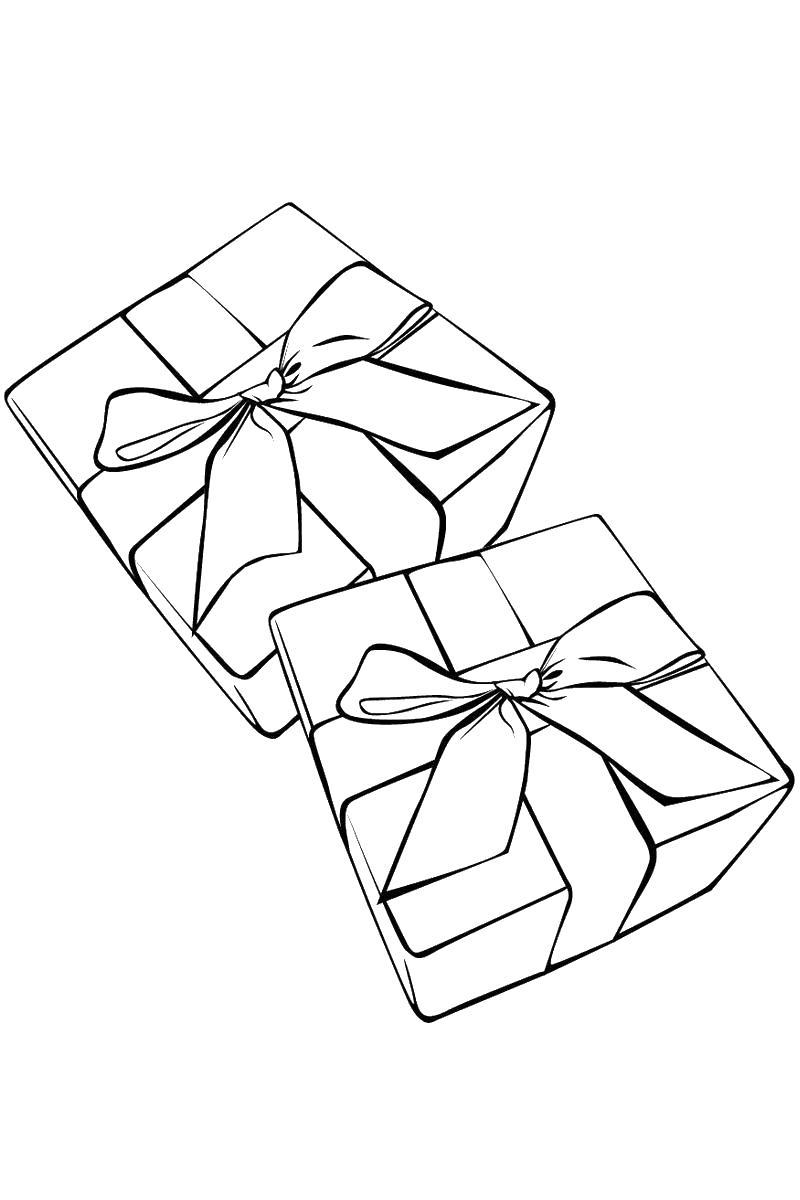Подарки Раскраски с цветами распечатать бесплатно