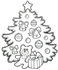 Украшения для елки Раскраски для девочек бесплатно