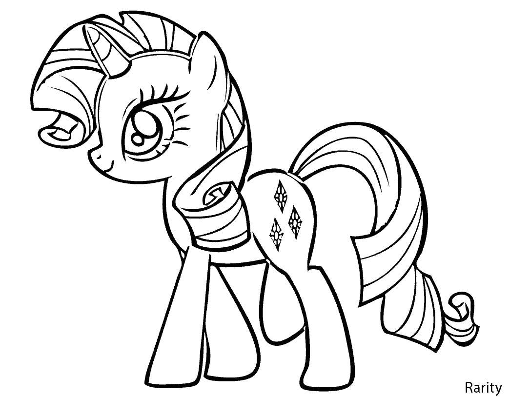 Онлайн раскраски для девочек пони